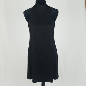 Bailey 44 women M black mini a-line halter dress